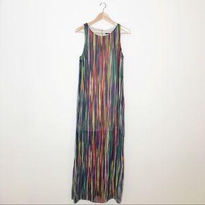 Sangria Multicolor Sleeveless Maxi Dress